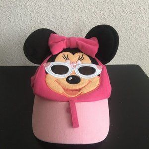 Disney Minnie Mouse Ears Pink Toddler Hat